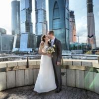 свадебное фото в Москва-сити