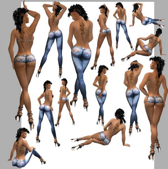 модельные позы со спины стоя